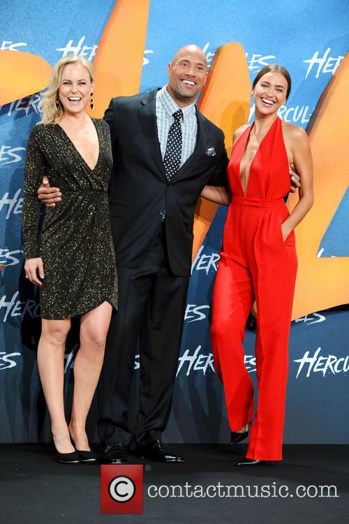 Dwayne Johnson, Ingrid Bolso Berdal and Irina Shayk 2