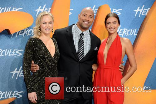 Ingrid Bolso Berdal, Dwayne Johnson and Irina Shayk 3