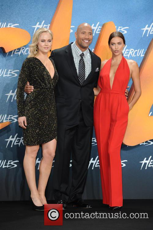 Ingrid Bolso Berdal, Dwayne Johnson and Irina Shayk 1