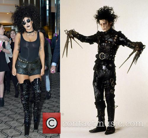 Lady Gaga resembles Tim Burton's famous creation Edward...