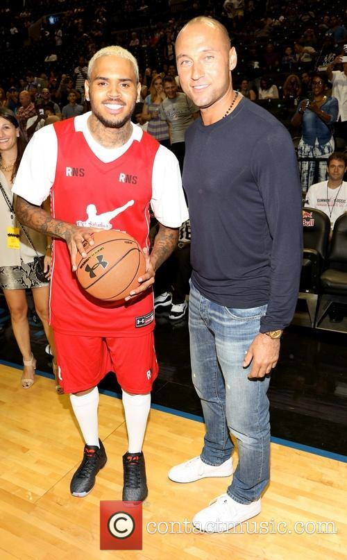 Chris Brown and Derek Jeter