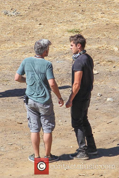 "Zac Efron filming ""We Are Your Friends"""