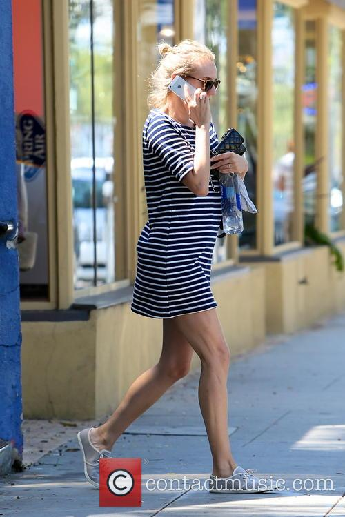 Diane Kruger spotted leaving an office building while...