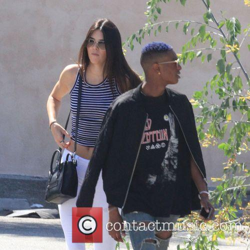 Kendall Jenner sports a cameltoe through her white...