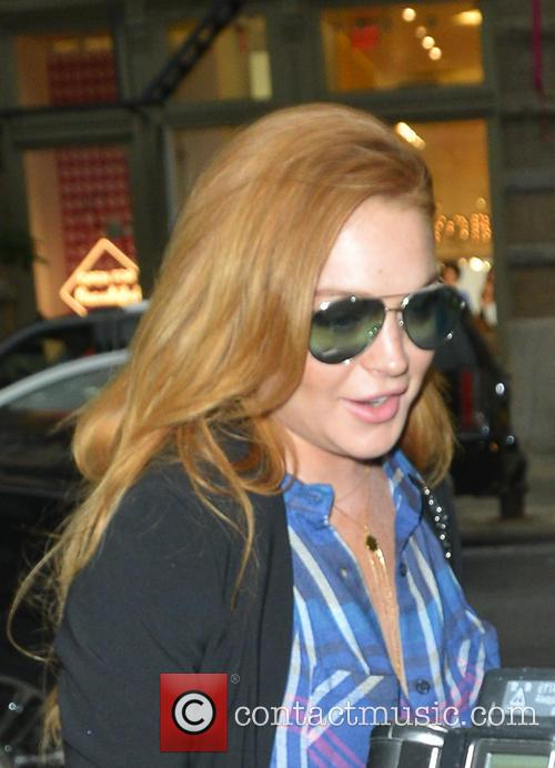 Lindsay Lohan spotted out in SoHo