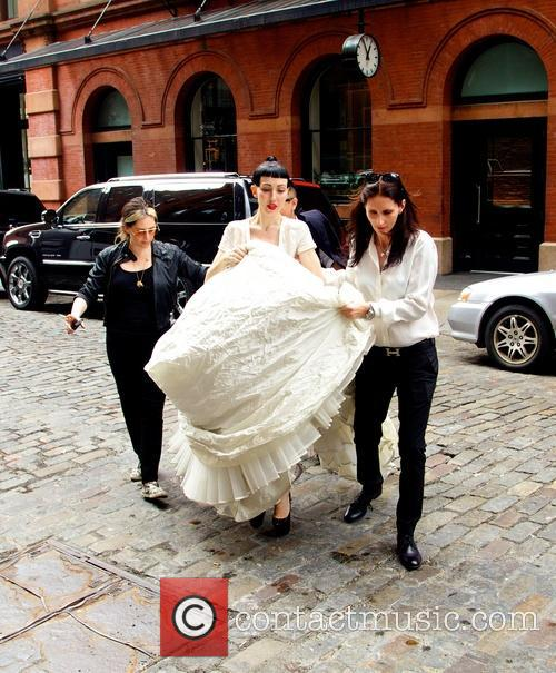 Michelle Harper spotted in SoHo wearing a wedding...