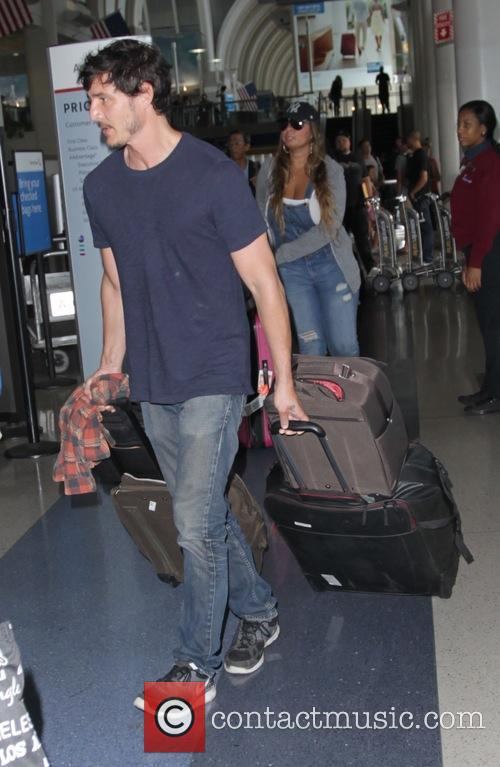 Pedro Pascal arrives at Los Angeles International Airport...