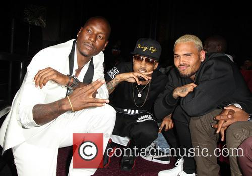 Tyrese Gibson, August Alsina and Chris Brown 2