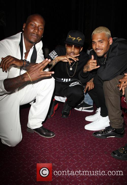 Tyrese Gibson, August Alsina and Chris Brown 4
