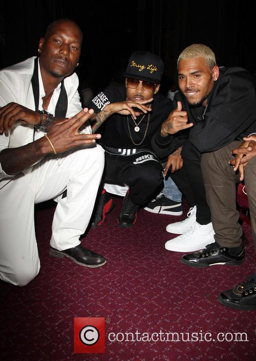 Tyrese Gibson, August Alsina and Chris Brown 1