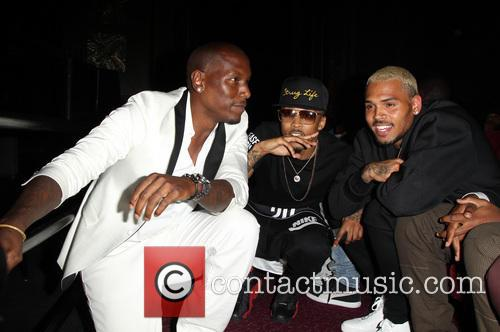 Tyrese Gibson, August Alsina and Chris Brown 6