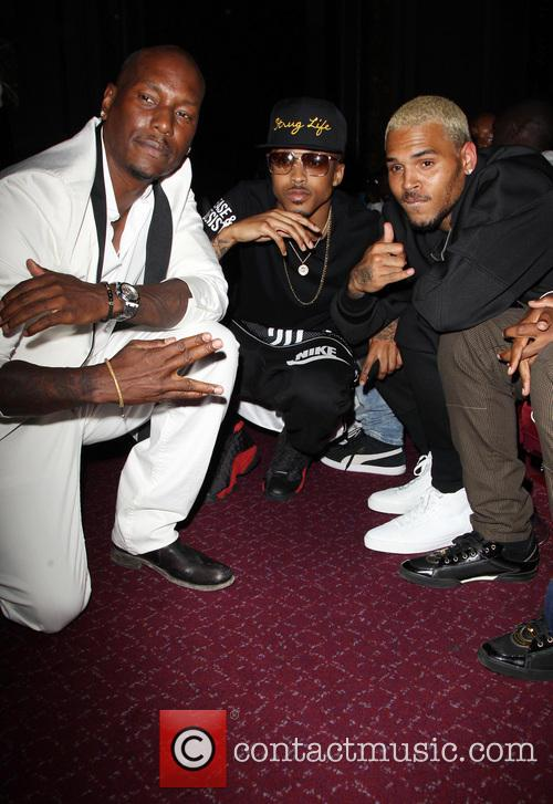 Tyrese Gibson, August Alsina and Chris Brown 7