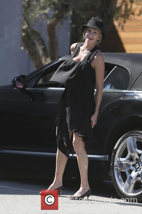 Melanie Griffith spotted outside Maxfield boutique