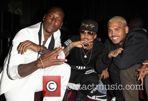 Tyrese Gibson, August Alsina and Chris Brown 9