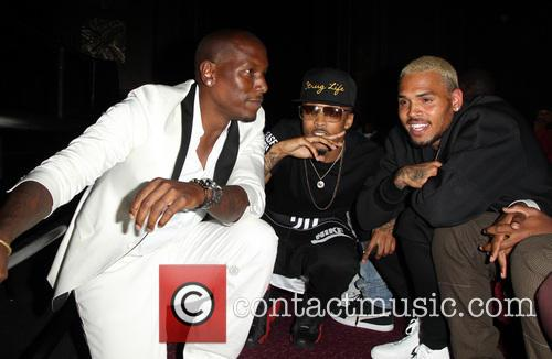 Tyrese Gibson, August Alsina and Chris Brown 11