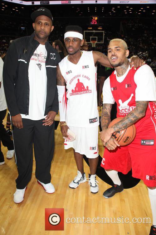 Cc Sabathia, Fabolous and Chris Brown 2