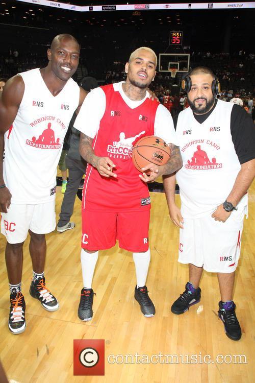 Terrell Owens, Chris Brown and Dj Khaled 3