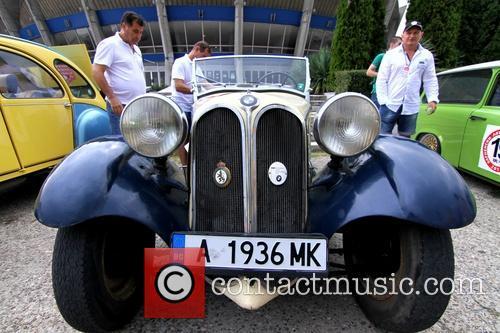 Bulgaria retro cars parade