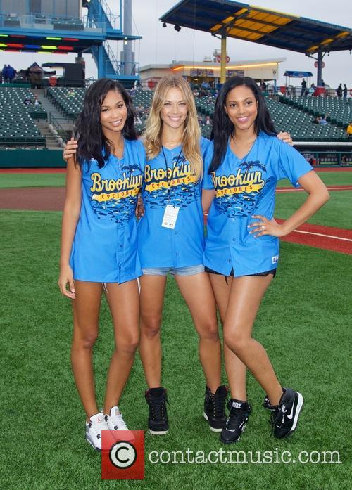 Chanel Iman, Hannah Ferguson and Ariel Meredith 2