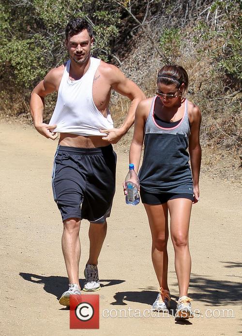 Lea Michele and boyfriend Matthew Paetz go for...