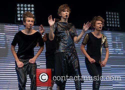 Swedish boy band The Fooo perform live