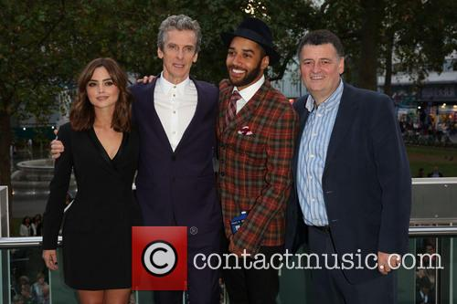 Jenna Coleman, Steven Moffat, Peter Capaldi and Samuel Anderson
