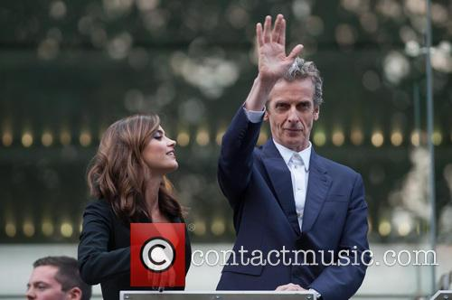 Jenna-louise Coleman and Peter Capaldi 10
