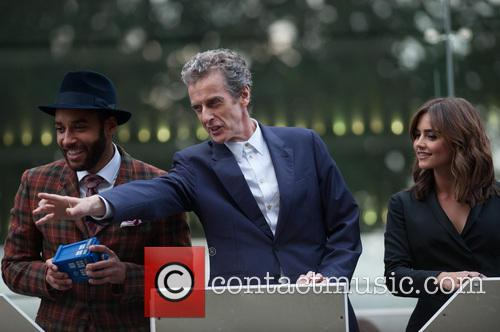 Peter Capaldi, Jenna-louise Coleman and Sam Anderson 3