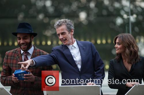 Peter Capaldi, Jenna-Louise Coleman and Sam Anderson 1
