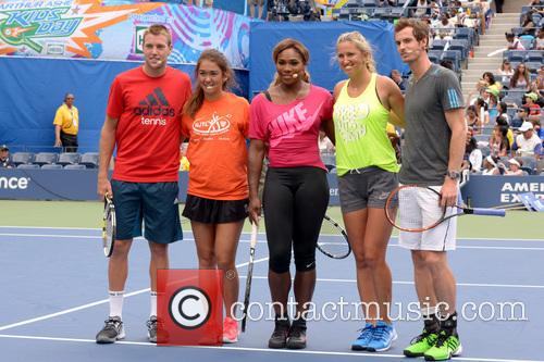 Jack Sock, Serena Williams, Victoria Azarenka and Andy Murray 1