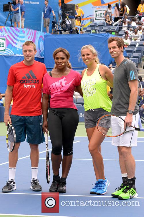 Jack Sock, Serena Williams, Victoria Azarenka and Andy Murray 4