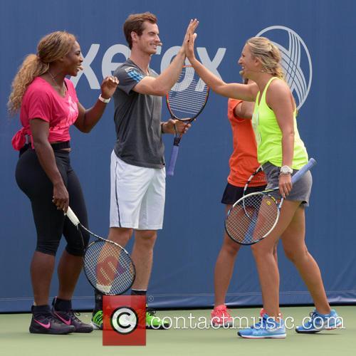Serena Williams, Andy Murray and Victoria Azarenka 8