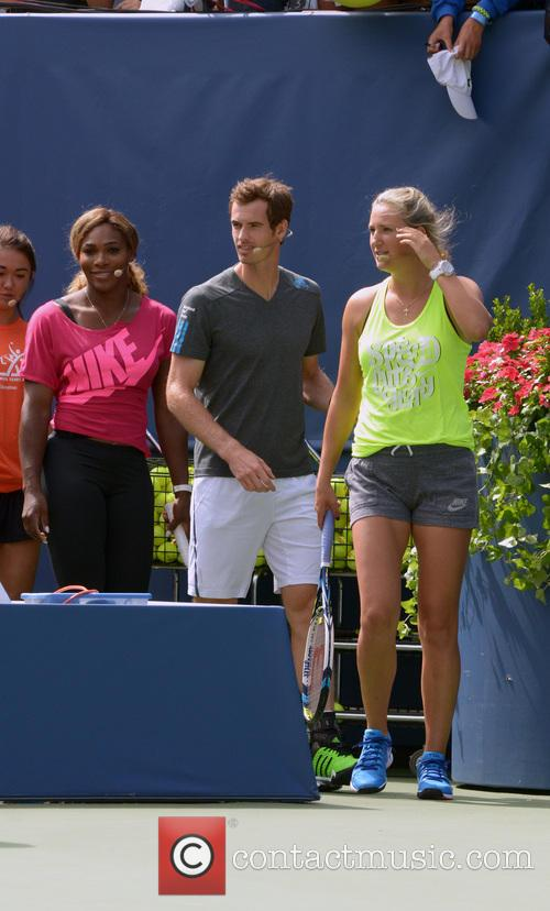 Victoria Azarenka, Andy Murray and Serena Williams 3