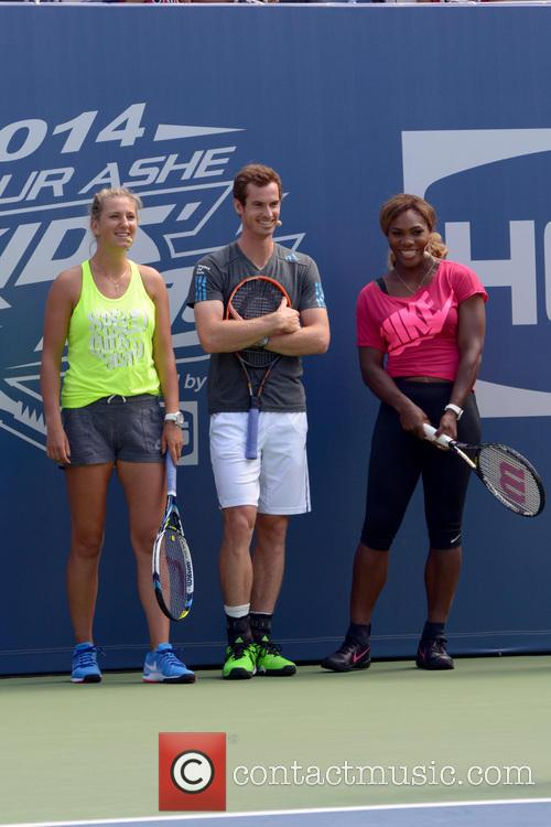 Victoria Azarenka, Andy Murray and Serena Williams 7
