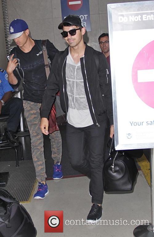 Joe Jonas at Los Angeles International Airport (LAX)