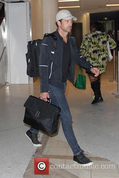 Patrick Dempsey at Los Angeles International Airport (LAX)