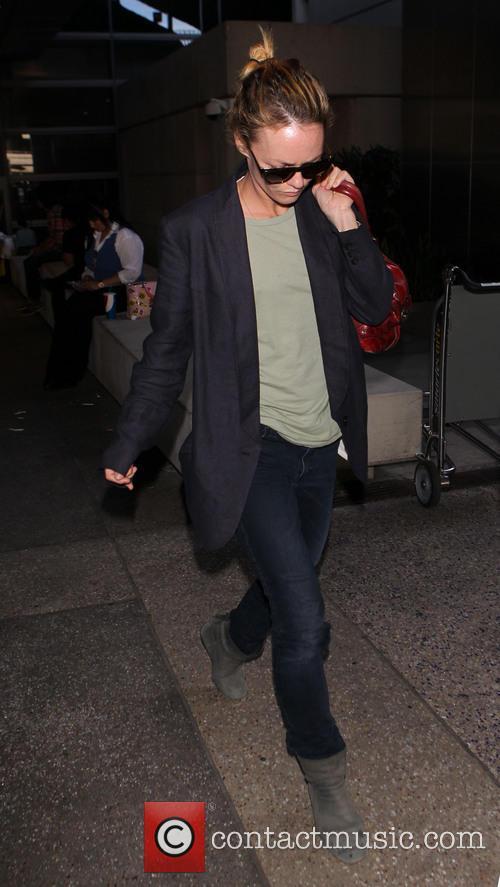 Vanessa Paradis arriving at Los Angeles International Airport