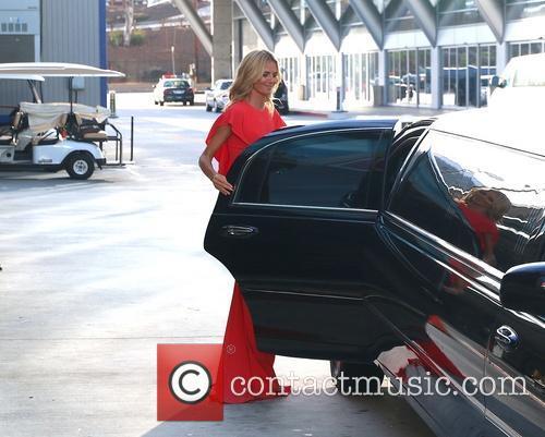 Heidi Klum leaves the 66th Primetime Emmy Awards