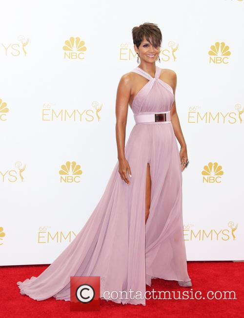 Halle Berry in the 66th Primetime Emmy's Pressroom