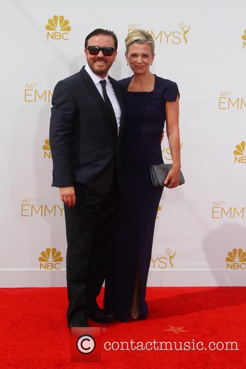 Ricky Gervais, Jane Fallon, Nokia Theatre L.A. Live, Primetime Emmy Awards, Emmy Awards