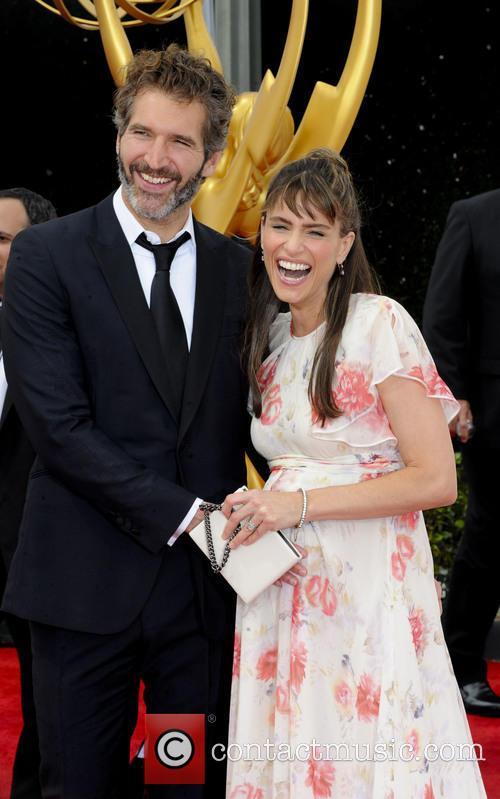 David Benioff and Amanda Peet 2