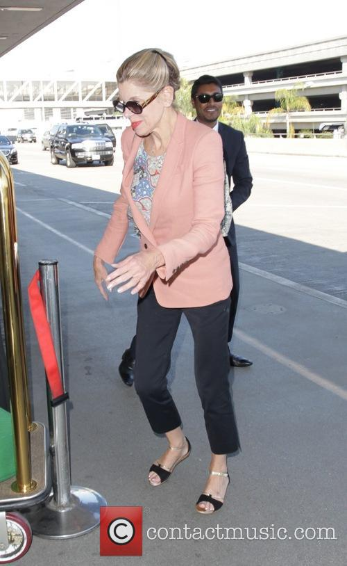 Christine Baranski departs from Los Angeles International Airport