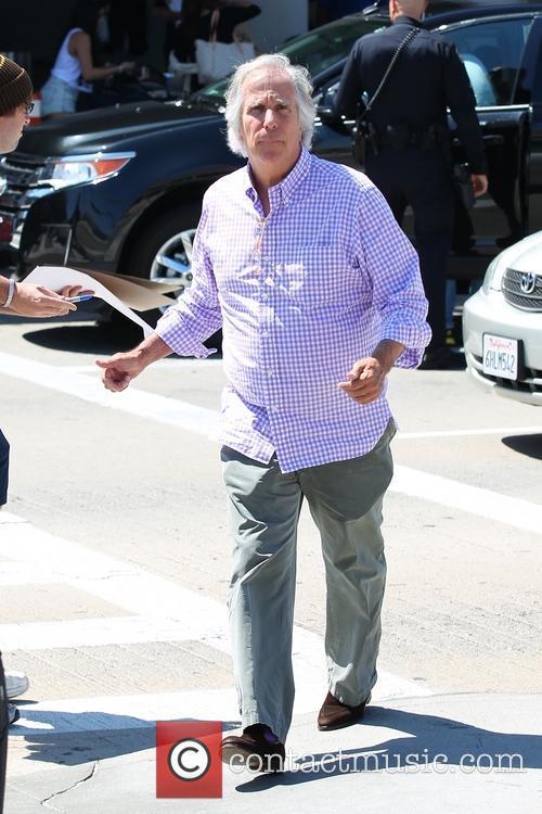 Henry Winkler at Los Angeles International Airport