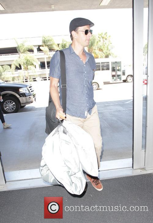 Josh Charles departs from Los Angeles International Airport