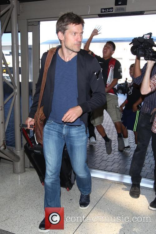 Nikolaj Coster-Waldau at Tom Bradley International Terminal at...