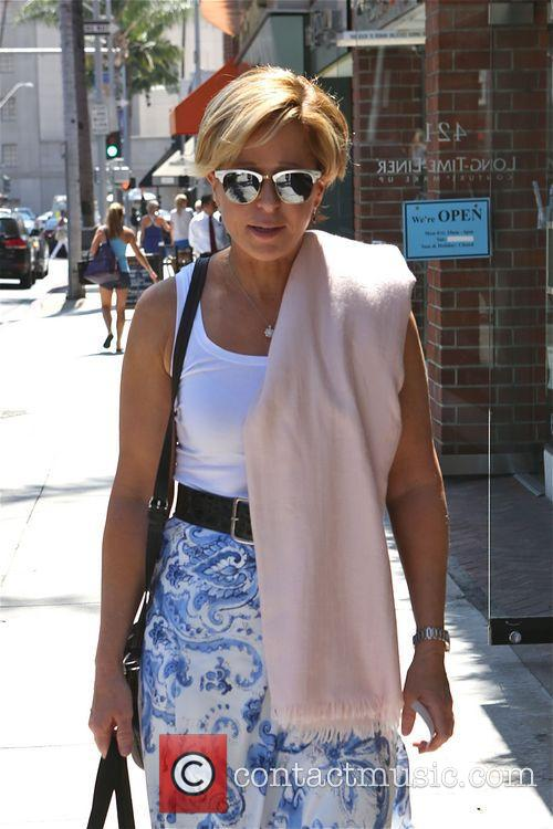 Yeardley Smith walks to a salon in Beverly...