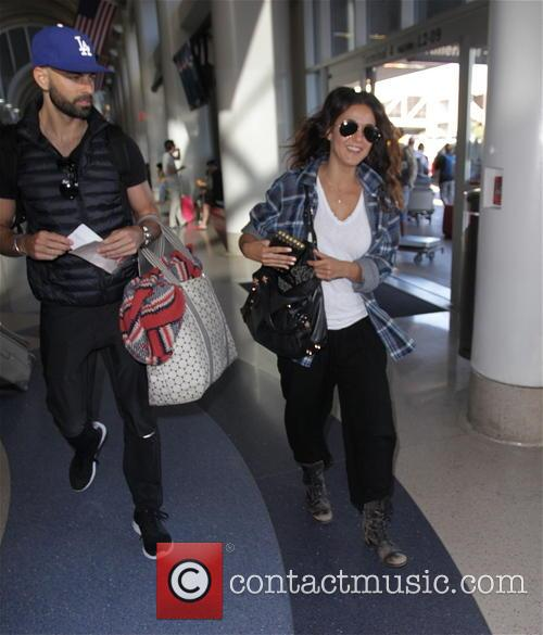 Emmanuelle Chriqui departs from Los Angeles International Airport
