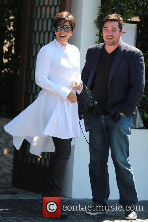 Kris Jenner leaves Cecconi's with a male friend