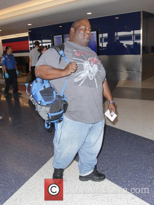Lavell Crawford departs from Los Angeles International Airport