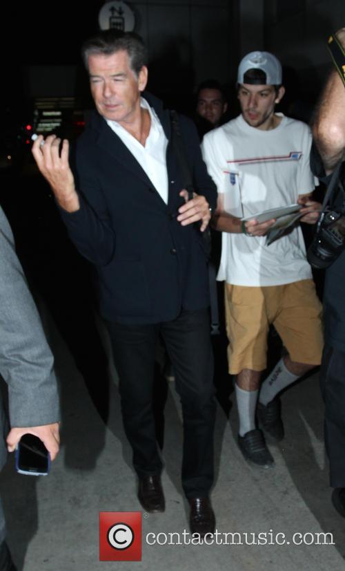 Pierce Brosnan at Los Angeles International Airport